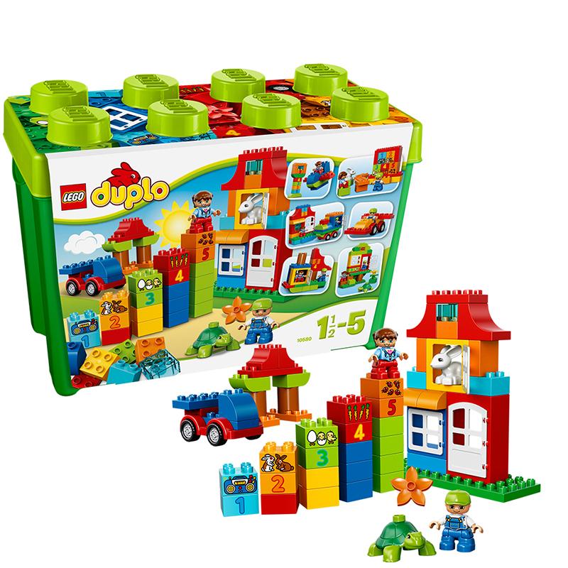 [当当自营]LEGO 乐高 duplo得宝系列 乐高得宝豪华乐趣盒 积木拼插儿童益智玩具 10580【当当自营】适合1.5-5岁,95pcs 大颗粒积木