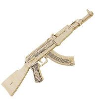 若态科技 3D木质立体拼图积木拼插 军事仿真武器 手枪突击步枪 冲锋枪JZ404