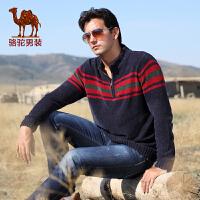 骆驼男装 新款毛衣 男士长袖毛衣