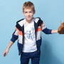 英格里奥春秋青少年中大童春款新装男童儿童拼接卫衣运动套装LLB846