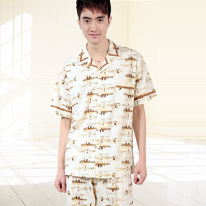 金丰田夏男士睡衣套装 针织短袖时尚家居服1248