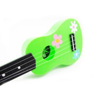 (货到付款) 吉他 儿童吉他 摆件吉他 儿童尤克里里 儿童玩具 彩色21寸ukulele小吉他 小四弦琴 尤克里里 嫩绿色AUK-1