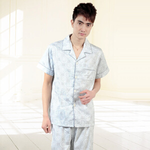 金丰田夏男士春装新品2011家居服 棉质短袖时尚睡衣套装1572