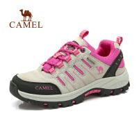 【领券满299减200】camel骆驼户外登山徒步鞋 女士新款低帮系带防滑耐磨户外登山徒步鞋