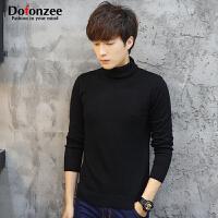 Dofonzee 潮流达人 秋季男士高领针织衫韩版修身棉质纯色套头线衫