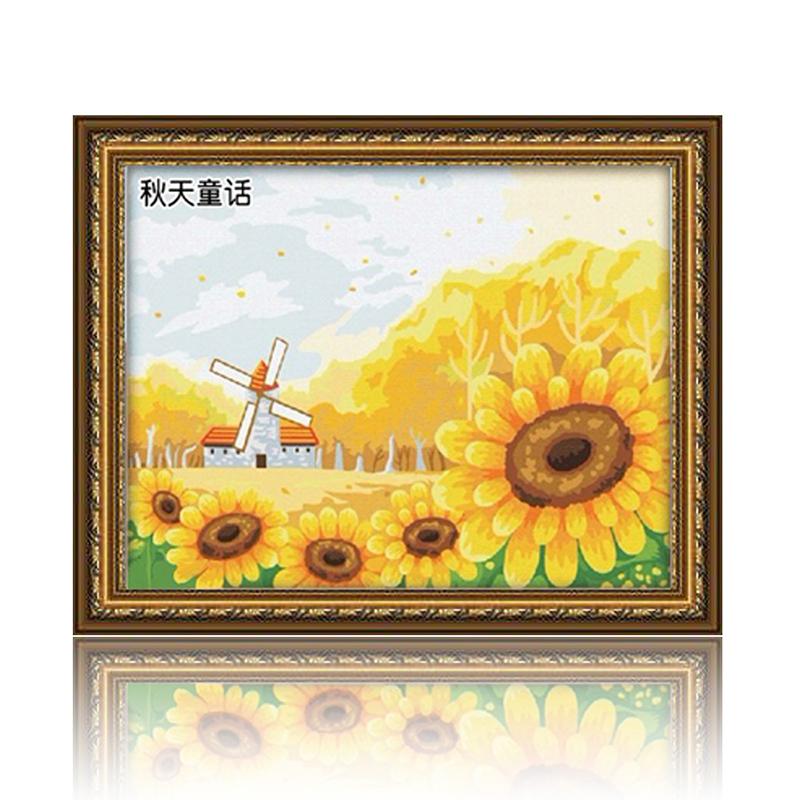 舞动色彩 秋天的童话 diy数字油画风景彩绘装饰画 w0263