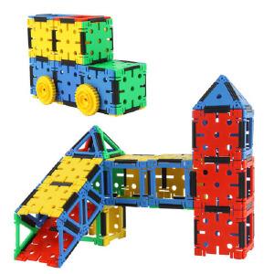 潜力 饼饼乐创意积木 桶装 塑料拼插积木 儿童益智玩具 3-7岁