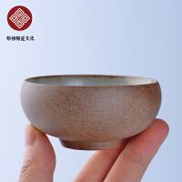 粗陶圆口杯 碗茶杯功夫茶具茶壶简约盖碗陶瓷茶杯家用