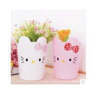 日照鑫 Hello Kitty 垃圾桶 桌面垃圾桶 杂物筒 多用桶 创意垃圾桶 一个装