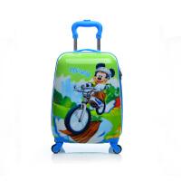 芭特莉可爱卡通学生行李箱万向轮儿童拉时尚韩版潮流杆箱箱39#17寸方形