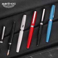 英雄钢笔382弯头美工笔手绘画画学生用书法练字铱金钢笔.