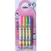 好吉森鹤/北京线上50元包邮/魔笔小良4色涂鸦笔//细笔头描红本绘图用彩笔 /可擦/4支一卡/水彩笔/绘图笔/可擦水彩笔-----------2卡8支+有搭送品6301
