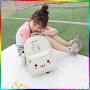 芭特莉【支持礼品卡支付】帆布双肩包女包学院风高中学生书包旅行背包小清新SD#8059