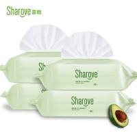 sharove 喜朗 婴儿手口湿巾80片带盖*4包 宝宝柔棉湿纸巾