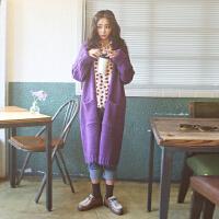 实拍2015秋季新款女装 时尚日系宽松东京风尚中长毛线大衣