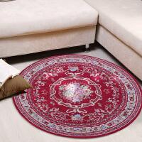 享家欧式多尼尔雕花圆形地毯90*90�M卧室客厅地垫电脑椅垫地垫  048