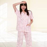 金丰田夏女士针织家居服 可爱休闲短袖两件套睡衣套装1568