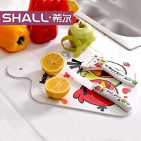 [当当自营]希尔SHALL 愤怒小鸟系列密胺多用垫板和陶瓷刀组合套装 AG8880