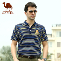CAMEL 骆驼男装 夏款翻领商务休闲短袖T恤 男T恤衫