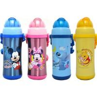 包邮!迪士尼儿童保温杯 450ML米奇儿童吸管杯 学饮杯 保温保冷水杯 防漏水壶 3421