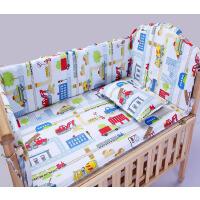 全棉婴儿床围 可拆洗纯棉宝宝儿童幼儿园一片式婴儿床围含芯床上用品套件