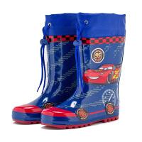 儿童雨鞋雨靴男童卡通雨鞋汽车总动员雨靴蓝色水靴水鞋