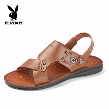 2015年新款花花公子男鞋 夏季新款透气舒适凉鞋男士沙滩鞋凉鞋