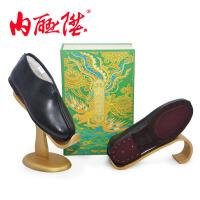 内联升女棉鞋牛皮镶芯底羊毛安棉鞋 秋冬高帮女棉鞋 老北京布鞋 7253A
