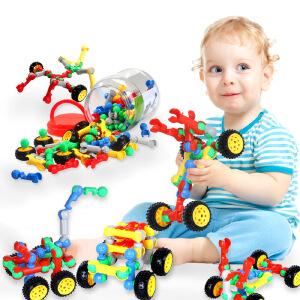 橙爱cheerbb 百变拼搭赛车 乐高式塑料拼插积木 儿童益智拼装玩具车积木 车模玩具