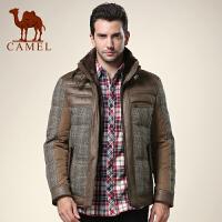 CAMEL 骆驼男装 新款男士休闲羽绒服 无帽立领羽绒外套