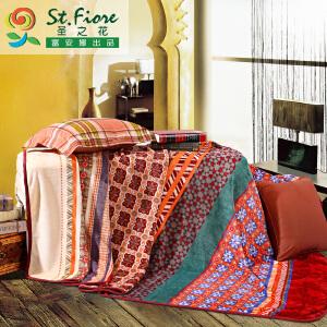 [当当自营]富安娜拉舍尔保暖多功能毯子 印象.西域 黄色 150*200