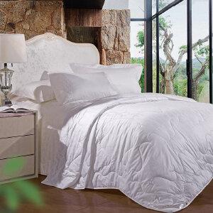 [当当自营]富安娜纯棉夏被空调被1.2米1.5米床 静逸柔肤七孔夏被 白色 1.2米