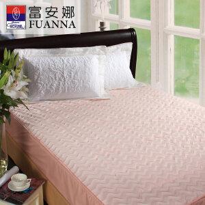 [当当自营]富安娜床垫床笠款保暖保护垫 立体水波纹保暖床垫 粉色 150*200