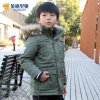 英格里奥童装男童冬装外套棉衣加厚外套15101