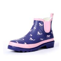 【支持礼品卡支付】女士雨靴英伦马儿短筒女式雨鞋女士水靴花园鞋水鞋