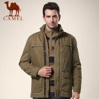 CAMEL 骆驼男装 新款男士休闲加厚立领直筒棉服潮外套
