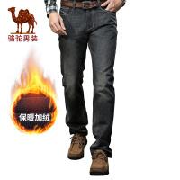 CAMEL骆驼男装 牛仔裤 男士  棉质直筒 男裤子男装长裤韩版潮