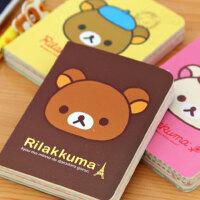 韩国文具 可爱轻松熊笔记本 卡通记事本 日记本子2本装