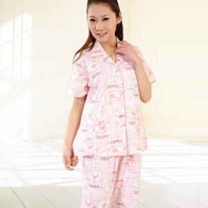 金丰田女睡衣 夏季可爱卡通家居服睡衣套装1218