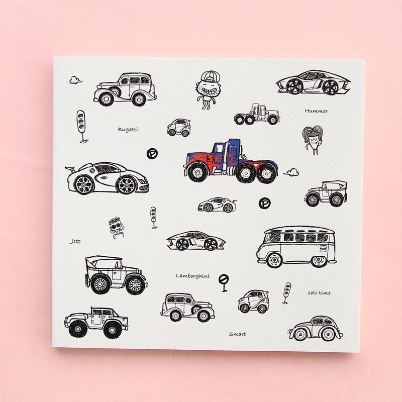 umi韩国创意文具卡通手绘涂鸦本素描速写手绘本 美术绘画笔记本_车趣