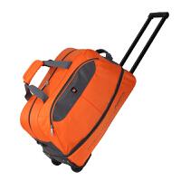 爱华仕 骑士风运动旅行包行李袋男女拖轮包纯色休闲旅行袋行李包包 静音顺滑轮拉杆袋耐磨抗撕裂大容量空间可调节