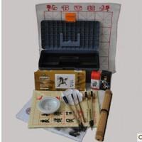 国画颜料工具17件套装颜料画笔 笔墨纸砚俱全 书法毛笔练习必备文房四宝