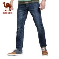 CAMEL 骆驼男装 新款男士商务休闲直筒牛仔裤 棉牛仔长裤子