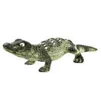 [当当自营]Schleich 思乐 野生动物系列 美洲短吻鳄幼崽 仿真塑胶动物模型收藏玩具 S14728