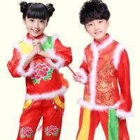 儿童古装女孩演出服装民族新服饰新年秧歌古代表演舞蹈喜庆幼儿冬