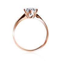 梦克拉 18K金玫瑰金钻石戒指结婚女戒钻戒 佳人 创意礼品