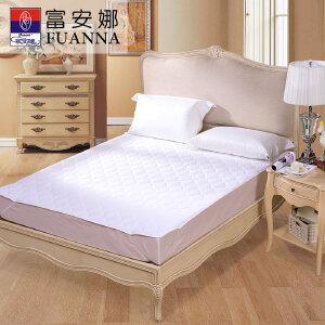 [当当自营]富安娜床垫磨毛印花保护垫 轻柔薄床垫 白色 120*200