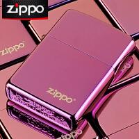 美国芝宝Zippo打火机 紫冰/Logo标志 24747ZL紫冰商标