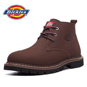 Dickies 秋冬新款 牛皮工装男鞋 低帮系带户外时尚164M50LXS48
