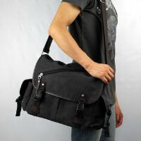 男包韩版帆布包单肩包斜挎包时尚潮流休闲包旅行包书包